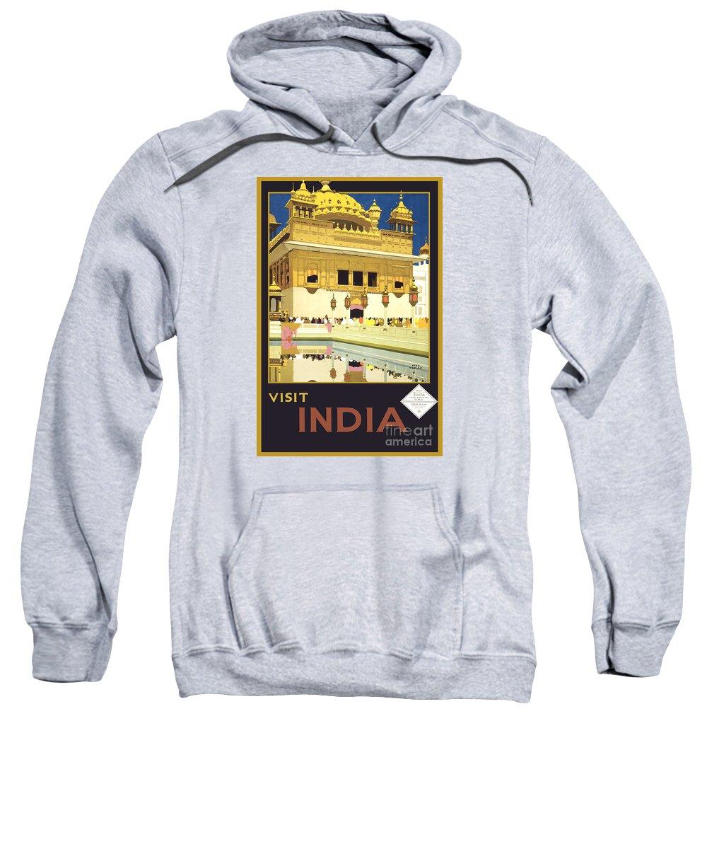 Beautiful India Poster Sweatshirt featuring the painting Beautiful India Poster by Pd