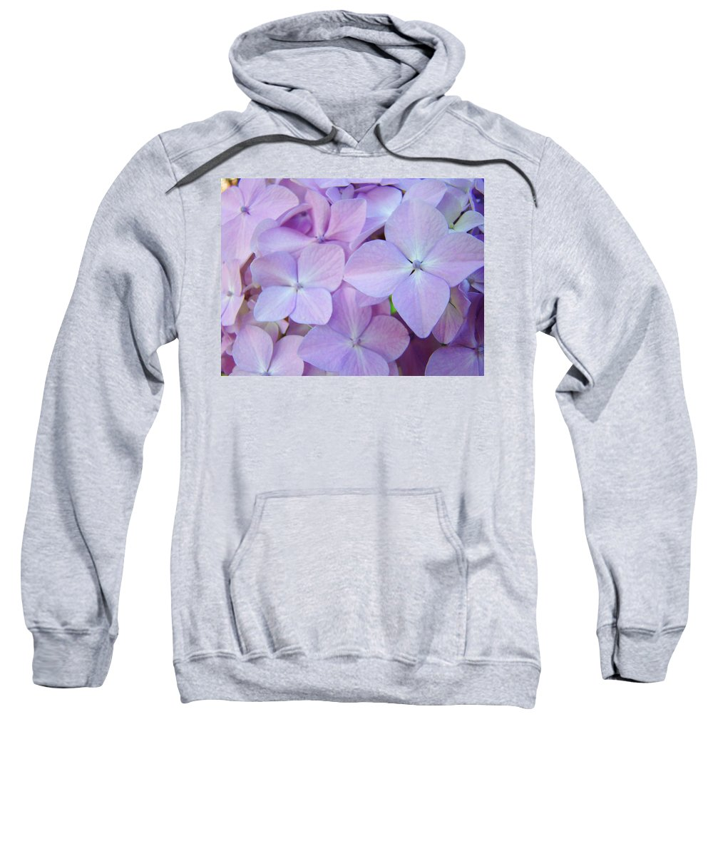 Floral Sweatshirt featuring the photograph Beautiful Lavender Purple Hydrangea Flowers Baslee Troutman by Baslee Troutman