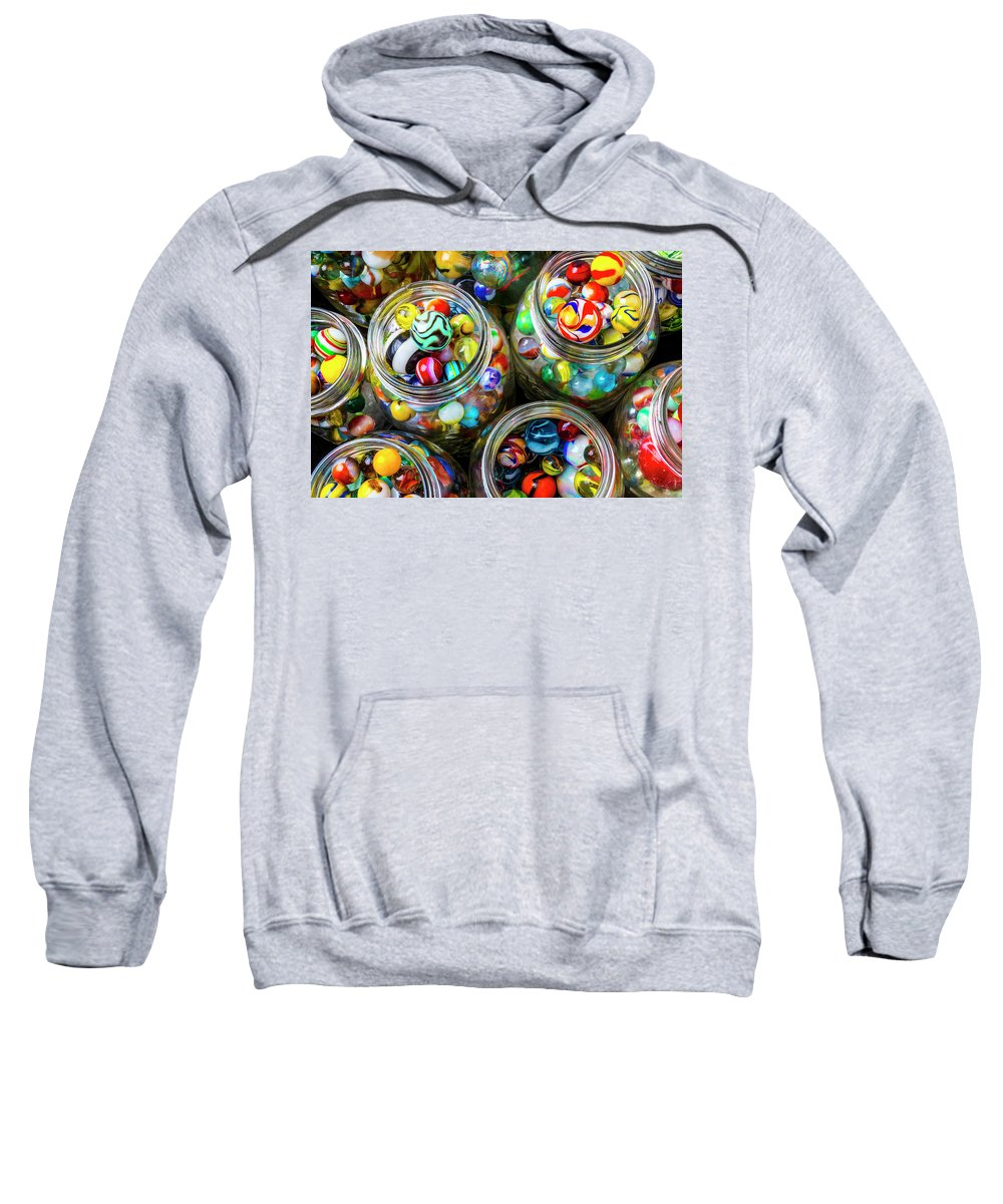 Jar Sweatshirt featuring the photograph Beautiful Marble Collection by Garry Gay
