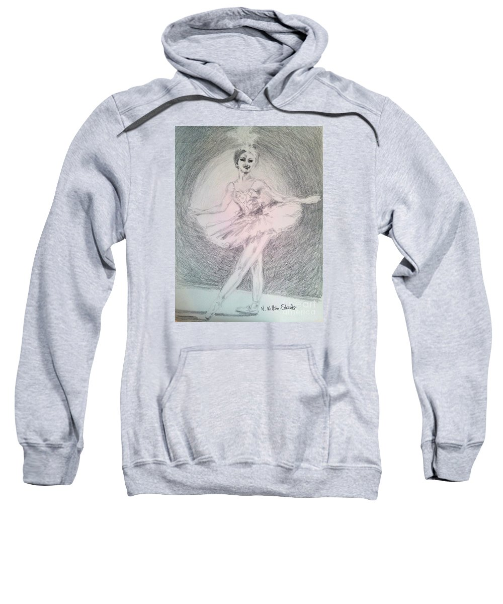 Natalia Makarova Sweatshirt featuring the drawing Beautiful Natalia by N Willson-Strader