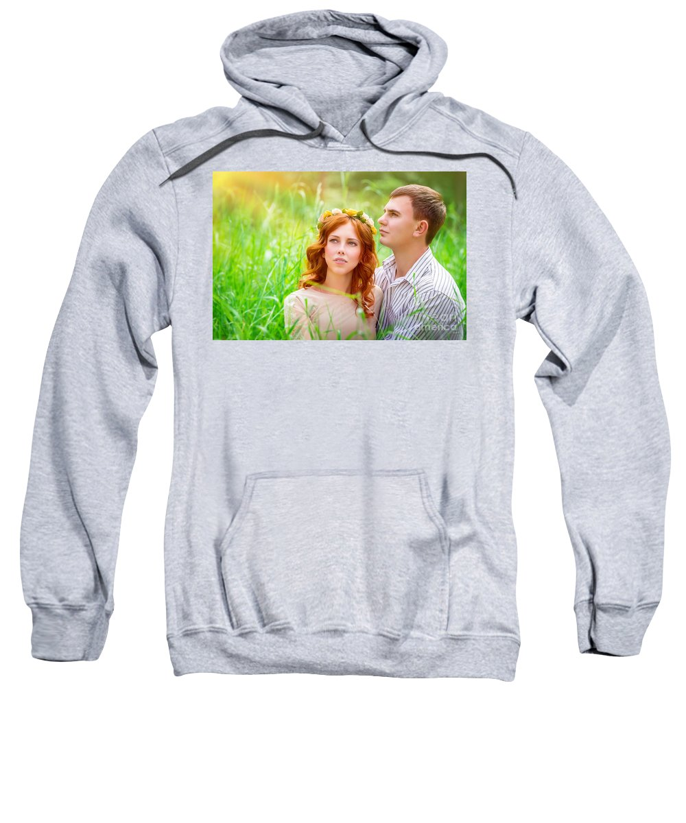 Adult Sweatshirt featuring the photograph Beautiful Romantic Couple by Anna Om