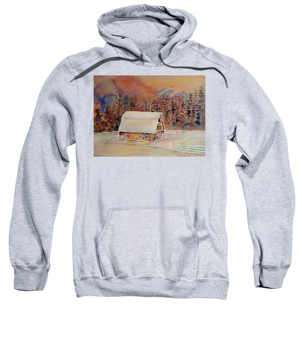 Beautiful Skies Sweatshirt featuring the painting Beautiful Skies by Carole Spandau