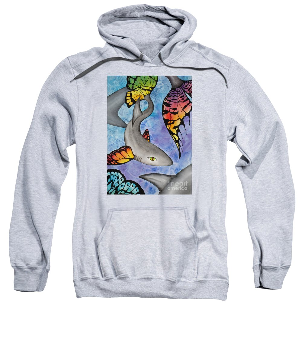 Surreal Sweatshirt featuring the painting Beauty In The Beasts by Lucy Arnold
