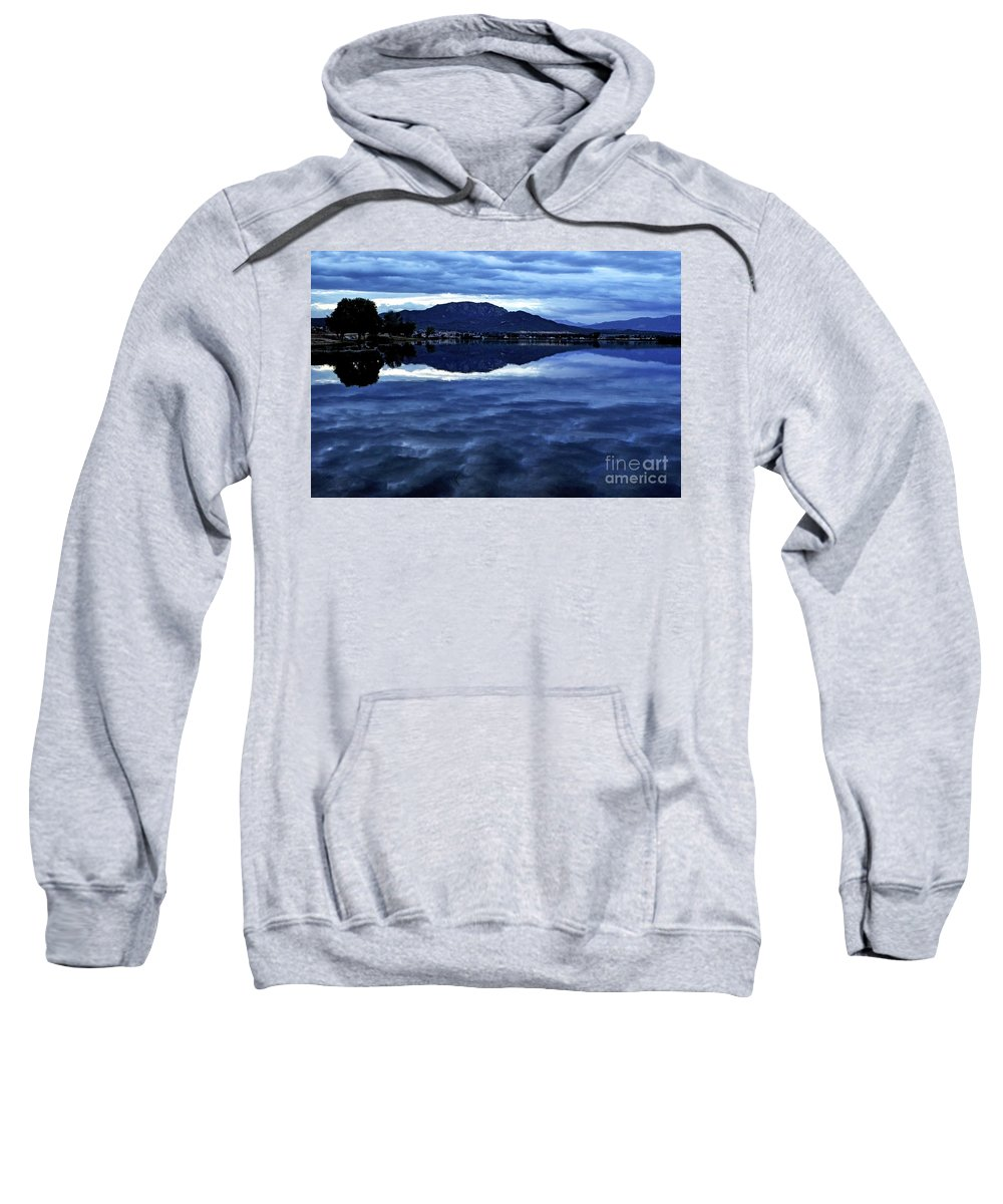Lake Sweatshirt featuring the photograph Beauty In The Dark by Third Eye Perspectives Photographic Fine Art