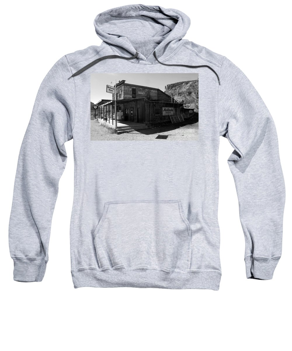 Bedrock Colorado Sweatshirt featuring the photograph Bedrock Store 1881 by David Lee Thompson