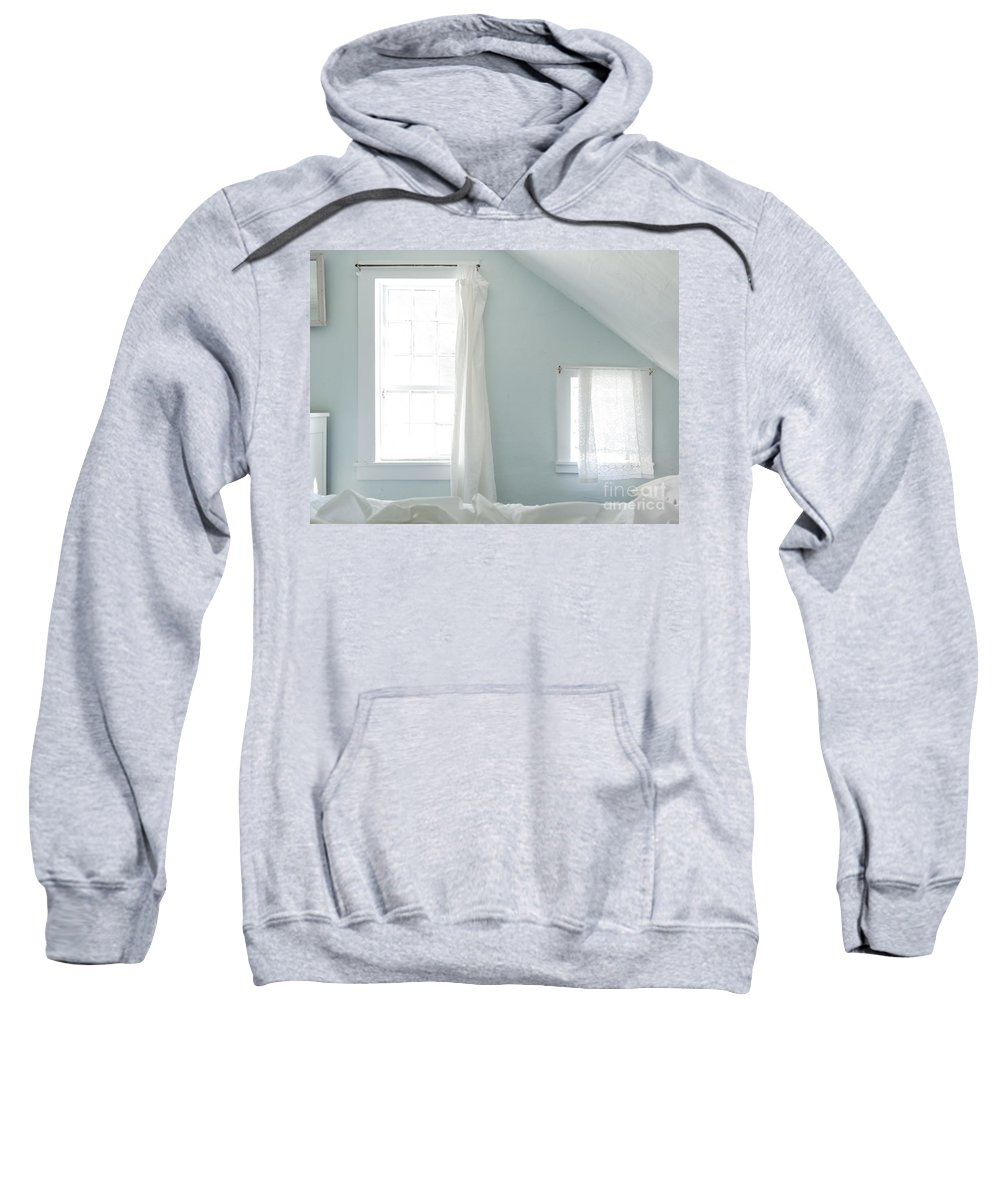 Austere Sweatshirt featuring the photograph Bedroom Blues by John Greim