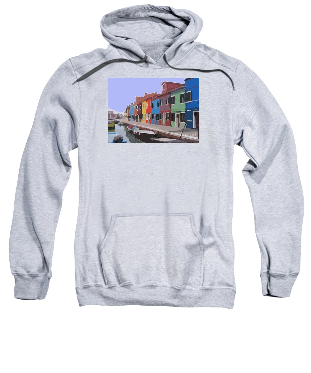 Burano Sweatshirt featuring the photograph Before The Crowds Arrive by Steve C Heckman