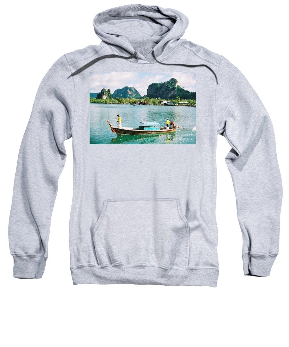 Boats Sweatshirt featuring the photograph Before The Tsunami by Mary Rogers