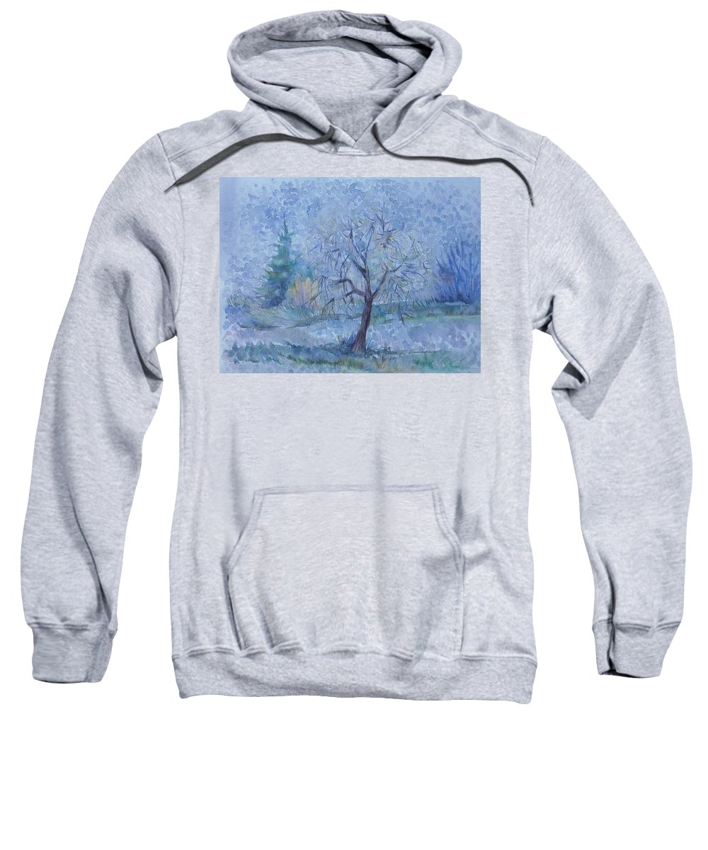 Autumn Sweatshirt featuring the painting Beginning Of Another Winter by Anna Duyunova