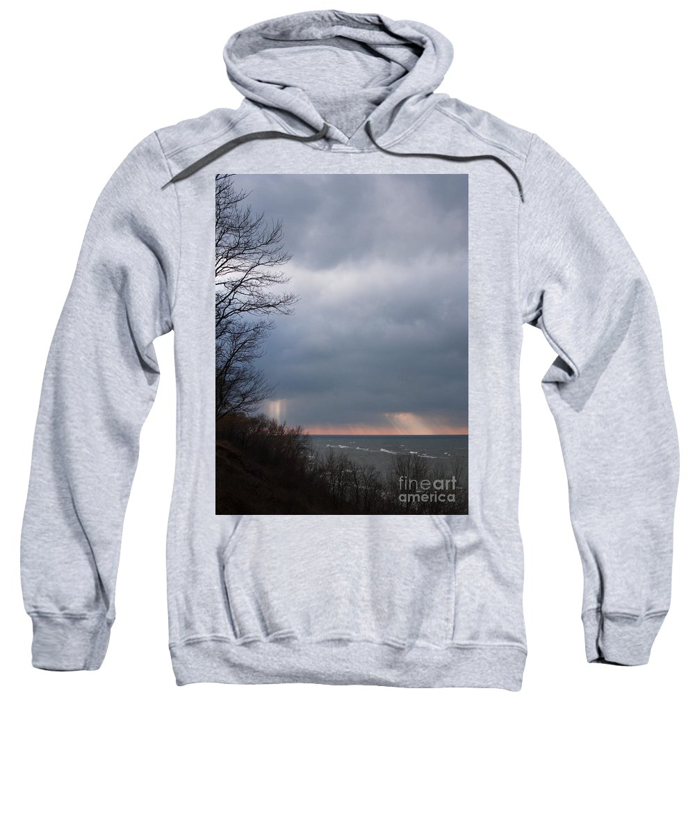 Lake Sweatshirt featuring the photograph Beginning To Clear by Ann Horn