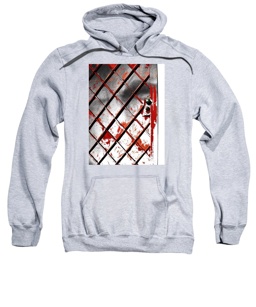 Abstract Sweatshirt featuring the photograph Behind Door by Radulescu Adriana Lucia