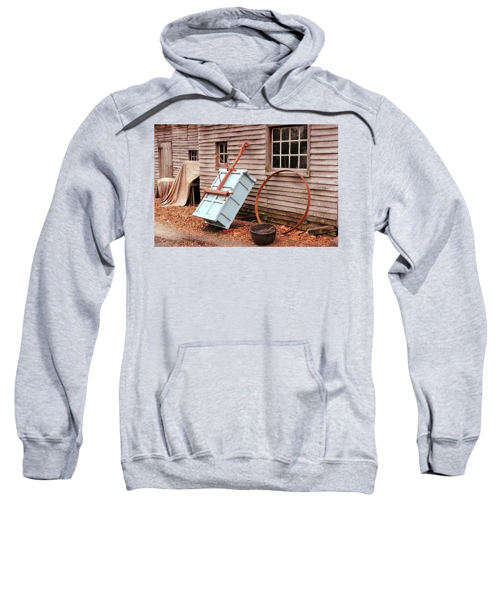 American Sweatshirt featuring the photograph Behind The Blacksmith Shop by Lou Ford