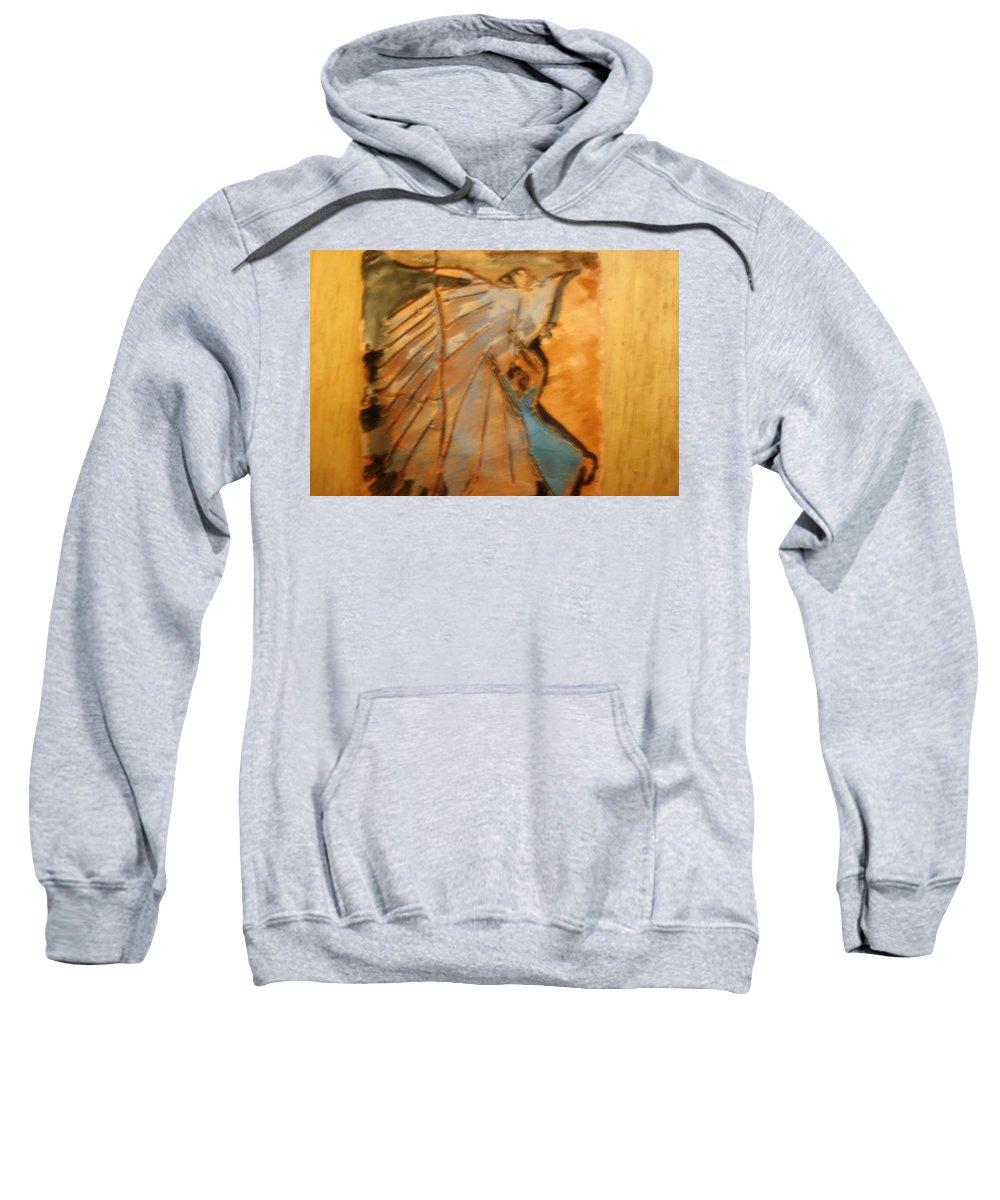 Jesus Sweatshirt featuring the ceramic art Behold - Tile by Gloria Ssali