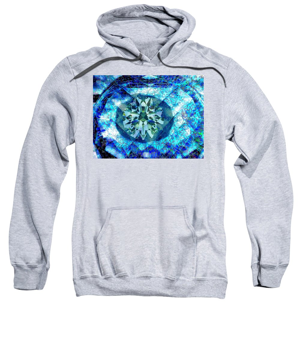 Abstract Sweatshirt featuring the digital art Behold The Jeweled Eye by Seth Weaver