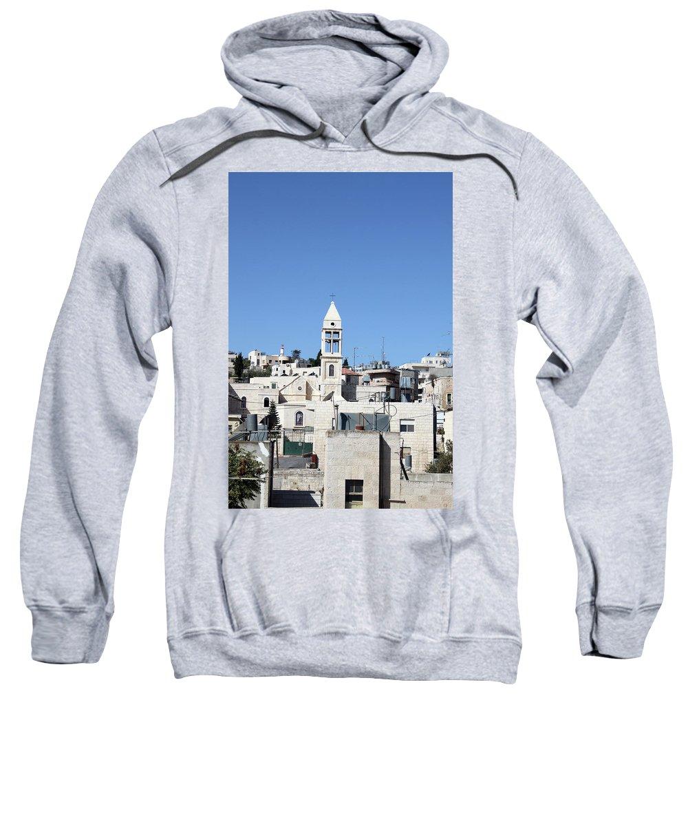 Beit Sweatshirt featuring the photograph Beit Jala Christian Town by Munir Alawi