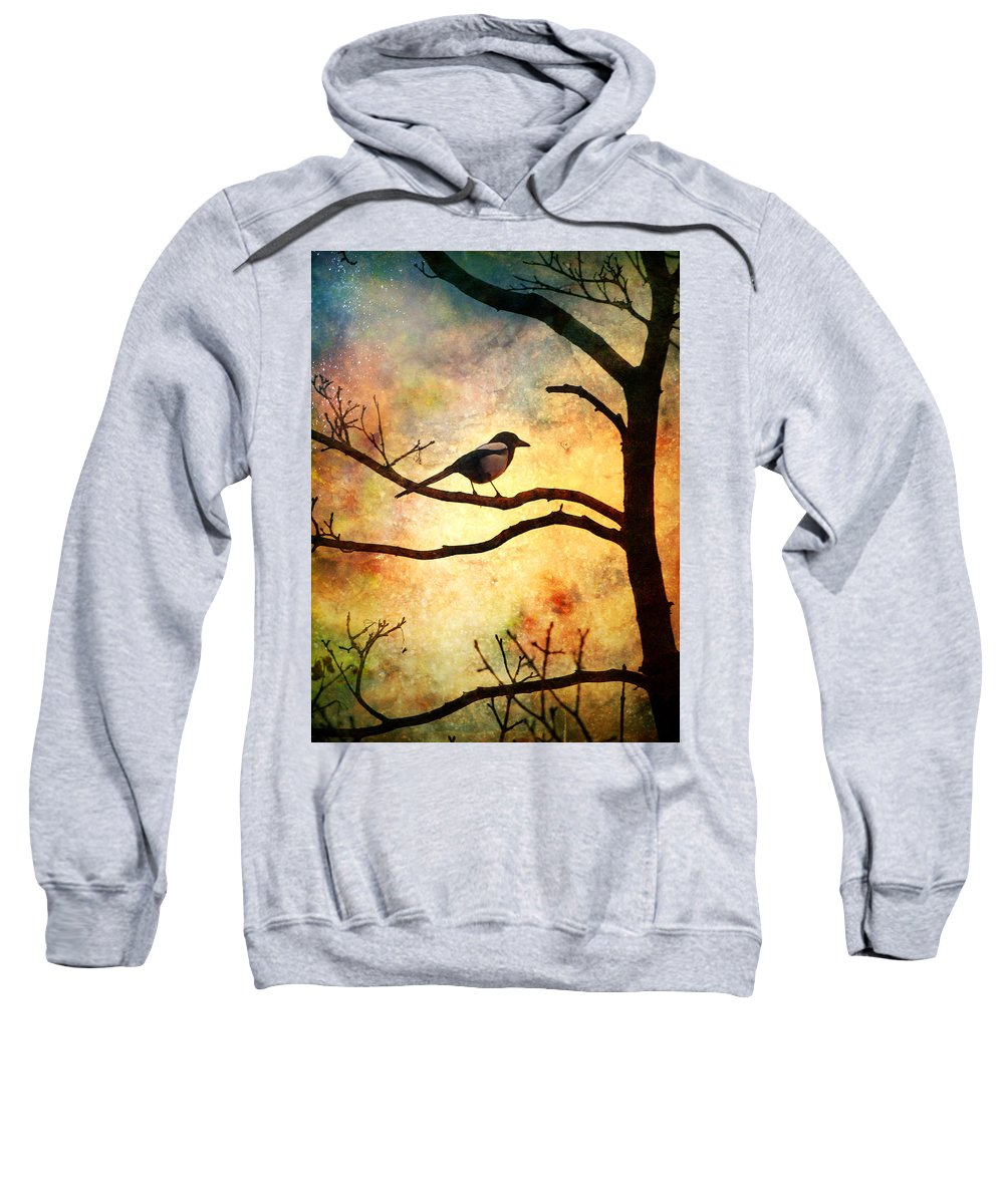 Bird Sweatshirt featuring the photograph Believing In The Morning by Tara Turner