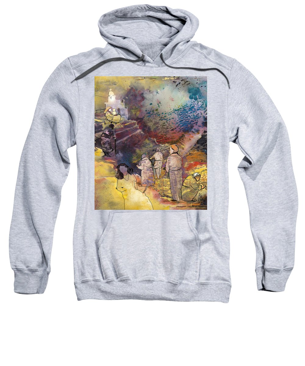 Fantasy Sweatshirt featuring the painting Believing Or Not Believing by Miki De Goodaboom