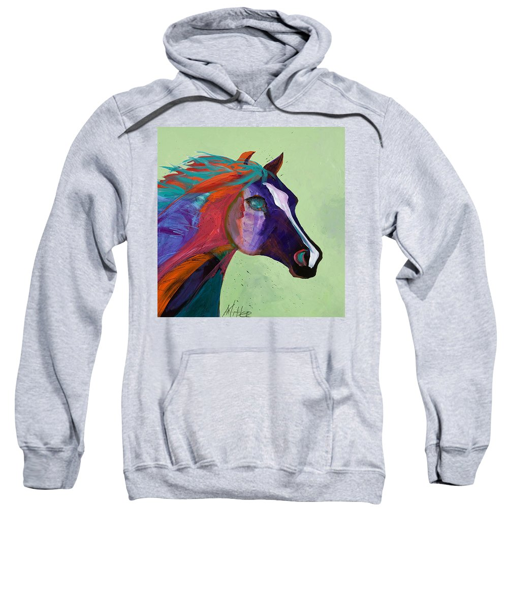 Horse Sweatshirt featuring the painting Bella by Tracy Miller