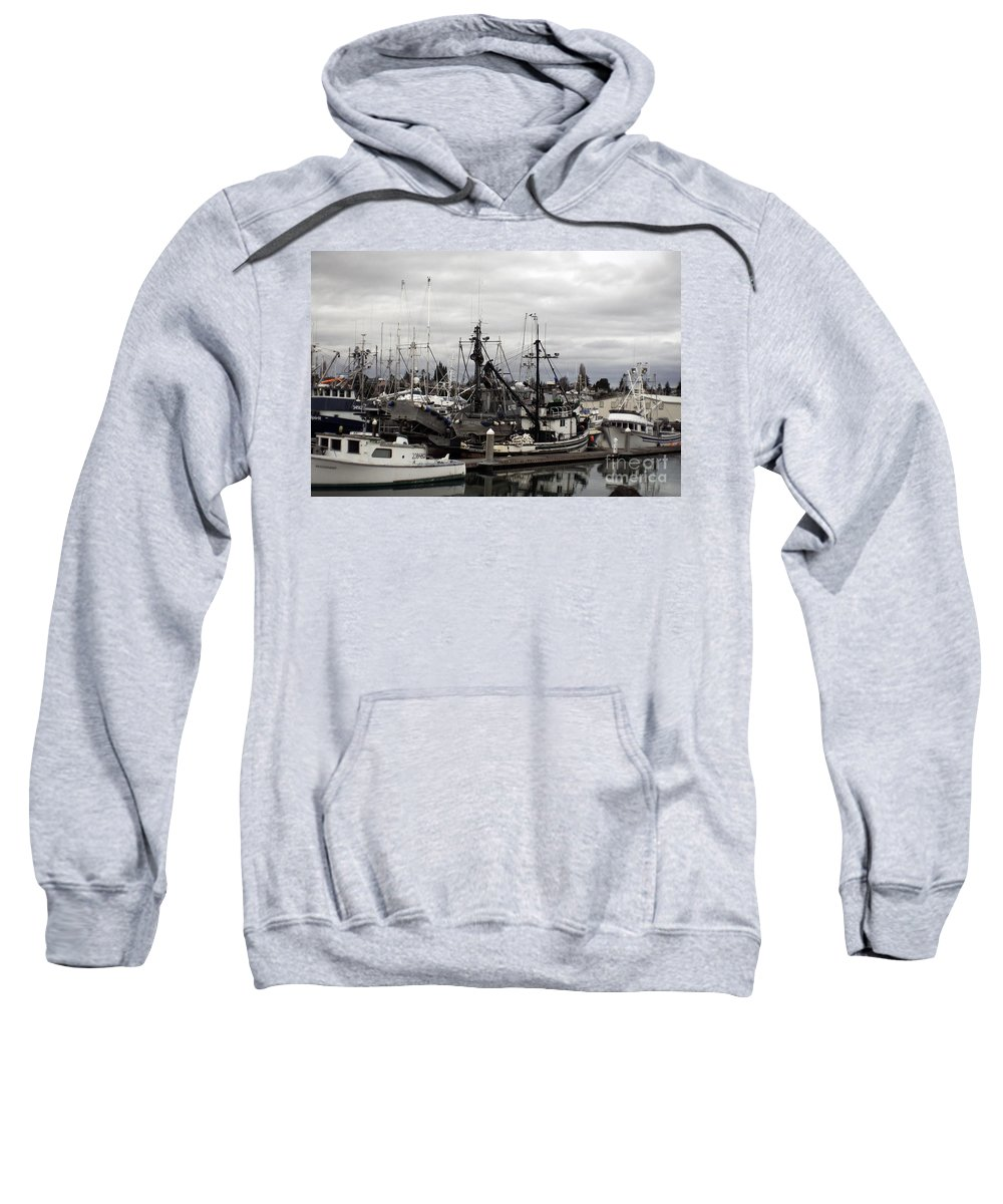 Art Sweatshirt featuring the photograph Bellingham Bay Ship Yard by Clayton Bruster