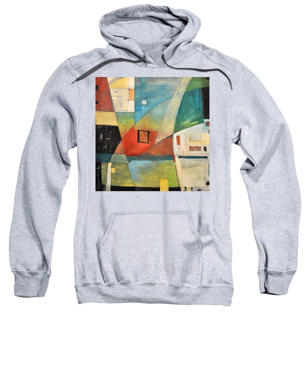 Jazz Sweatshirt featuring the painting Bemsha Swing by Tim Nyberg