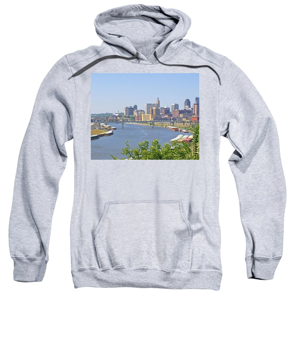St Paul Sweatshirt featuring the photograph Bend In The River by Tom Reynen