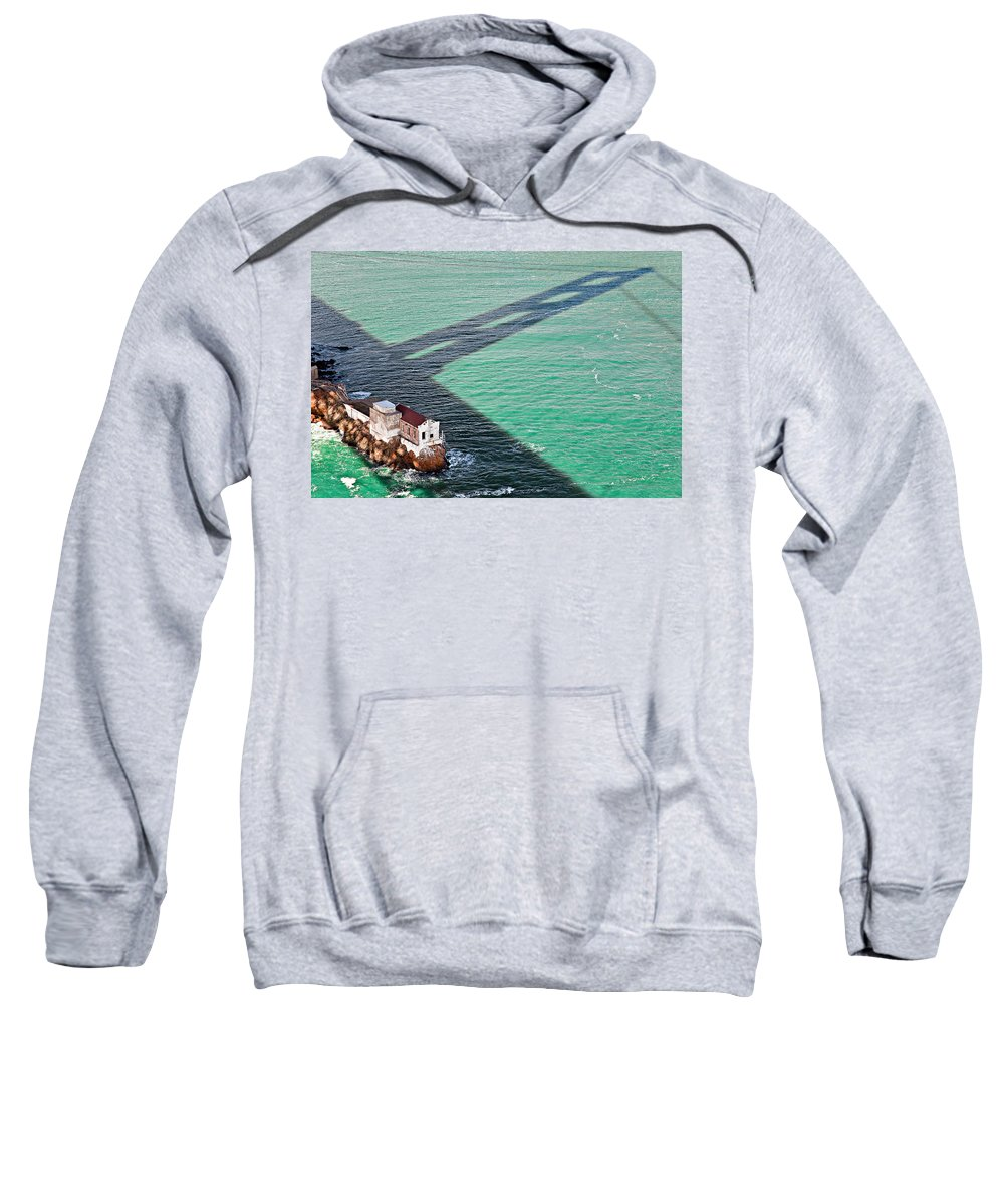 Golden Gate Bridge Sweatshirt featuring the photograph Beneath The Golden Gate by Dave Bowman