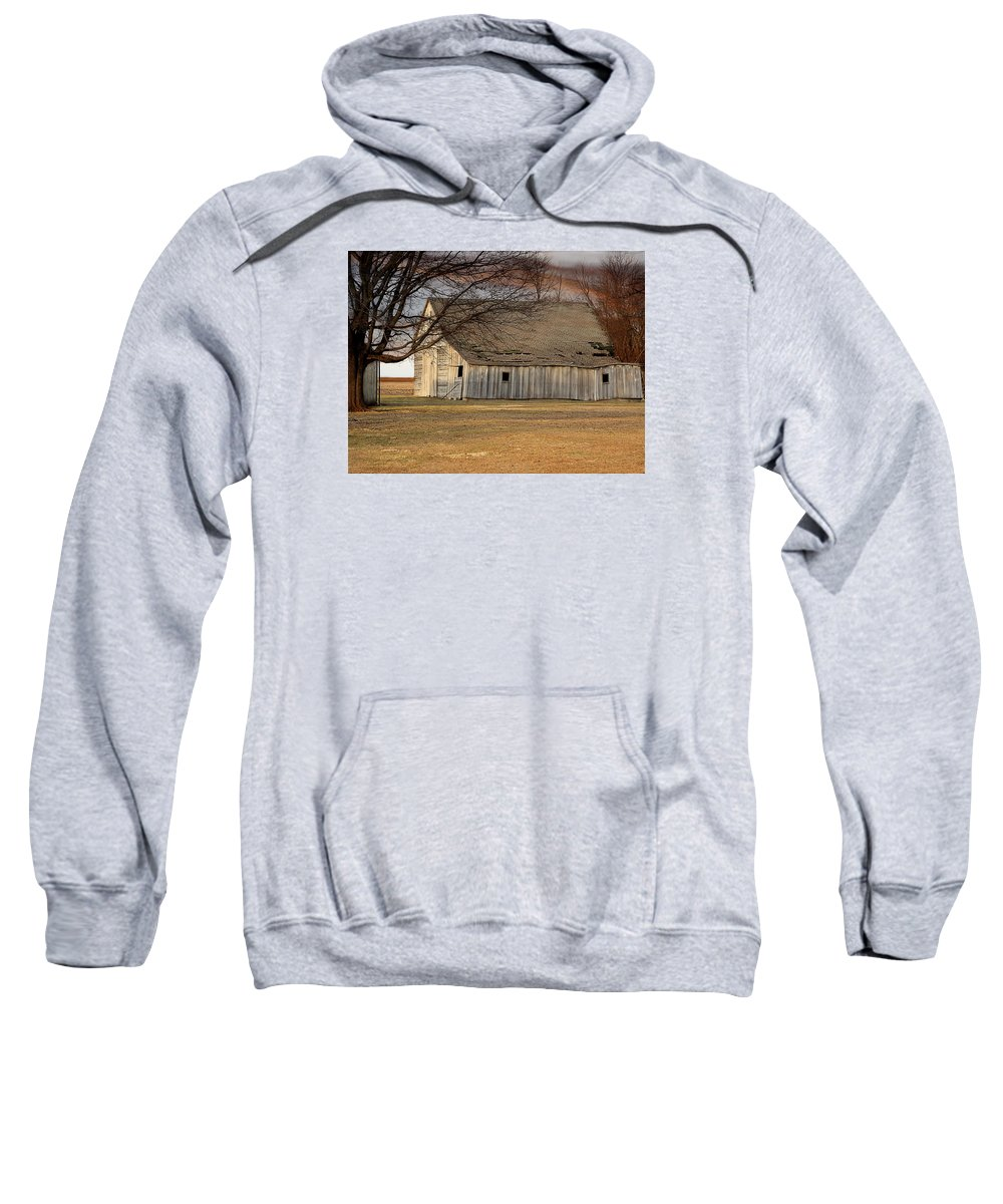 Farm Sweatshirt featuring the photograph Bent But Unbroken by Theresa Campbell