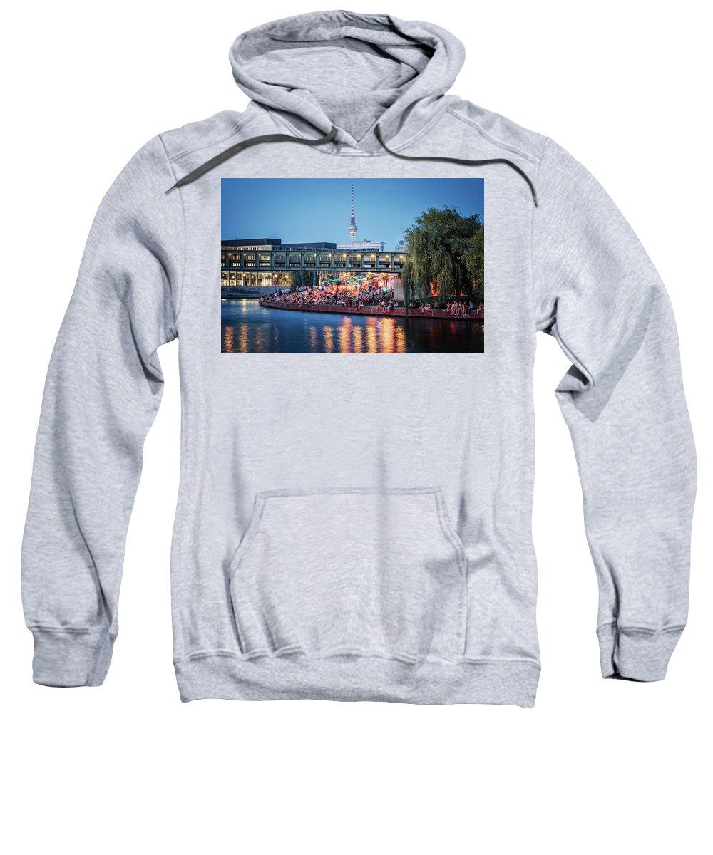Berlin Sweatshirt featuring the photograph Berlin - Capital Beach Bar by Alexander Voss