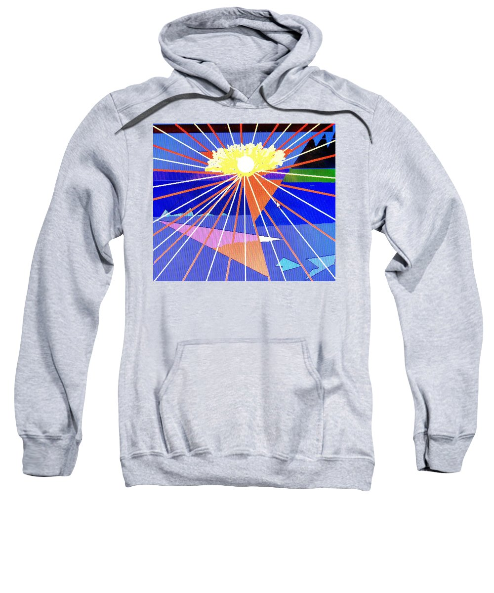 Sunset Sweatshirt featuring the digital art Bermuda Sunset by Ian MacDonald