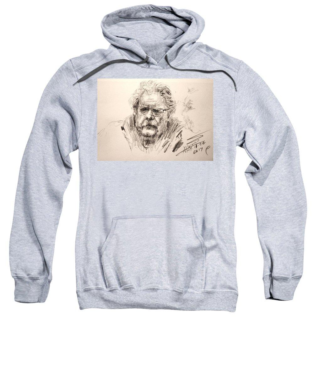 Portrait Sweatshirt featuring the drawing Bern by Ylli Haruni