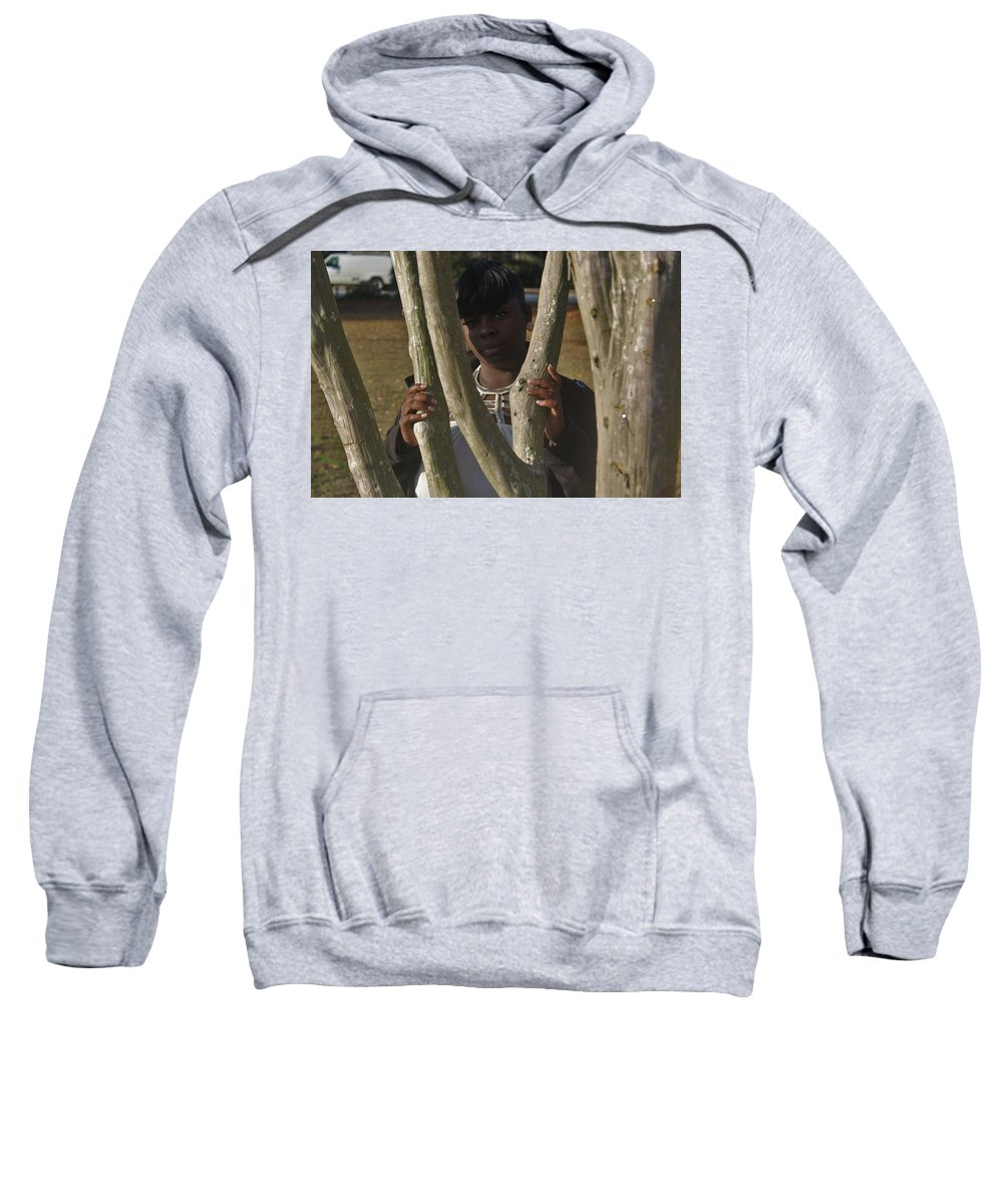 Ebony Sweatshirt featuring the photograph Best Friends 7 by Christopher White