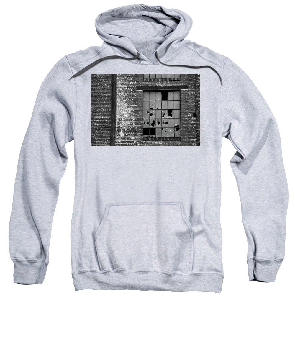 Window Sweatshirt featuring the photograph Bethlehem Steel Window by Jennifer Ancker