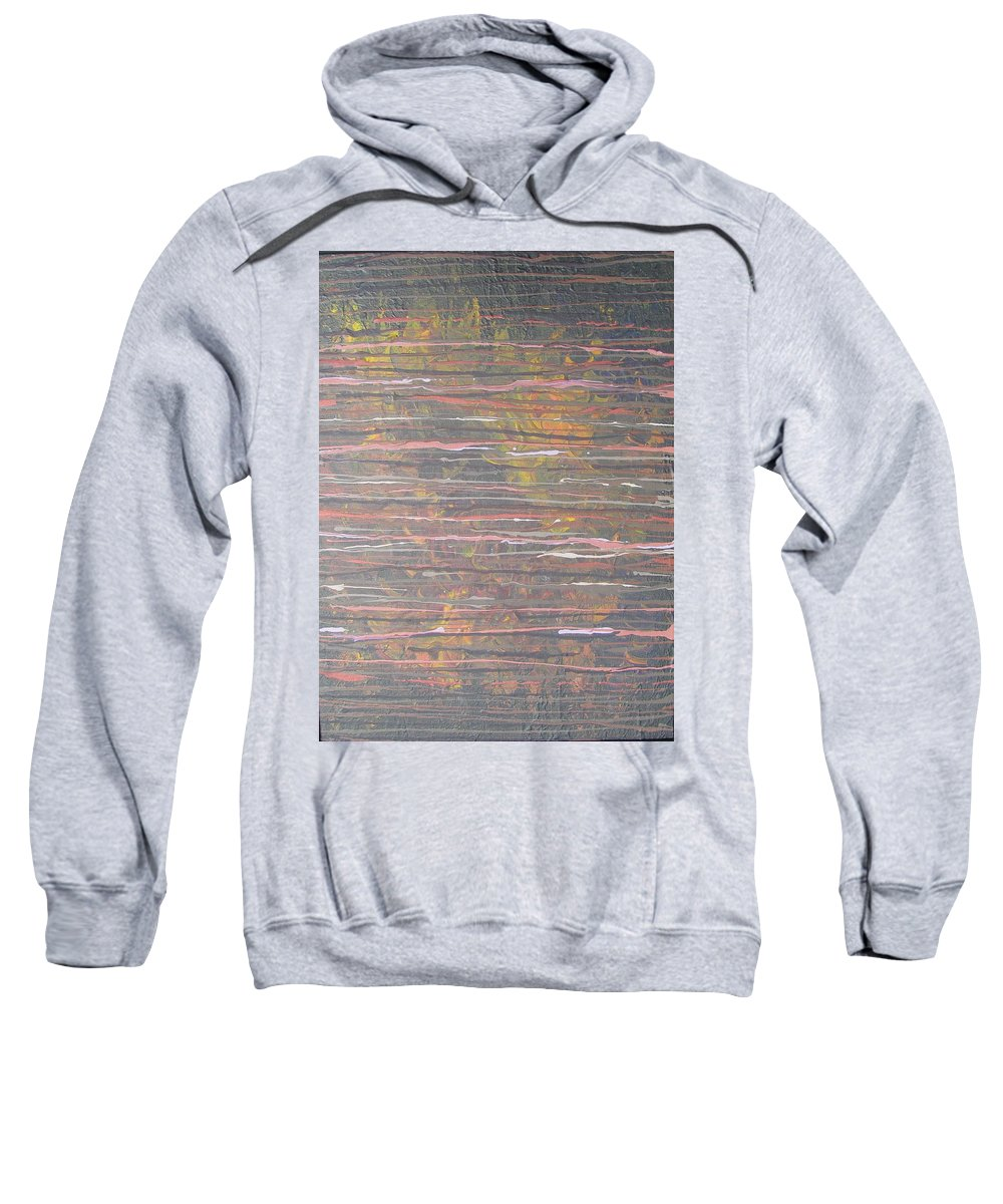 Lines Sweatshirt featuring the painting Between The Lines by Jacqueline Athmann