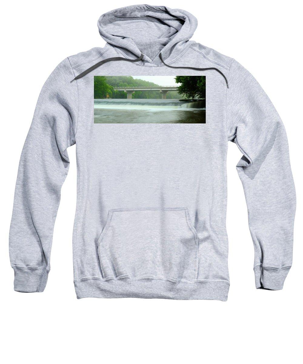 Dam Sweatshirt featuring the photograph Beyond Otranto Dam by Bonfire Photography