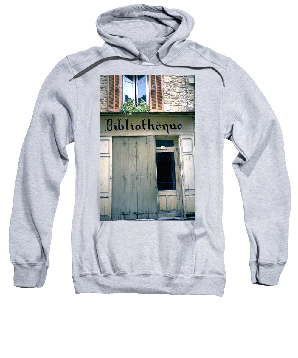 Bibliotheque Sweatshirt featuring the photograph Bibliotheque by Flavia Westerwelle