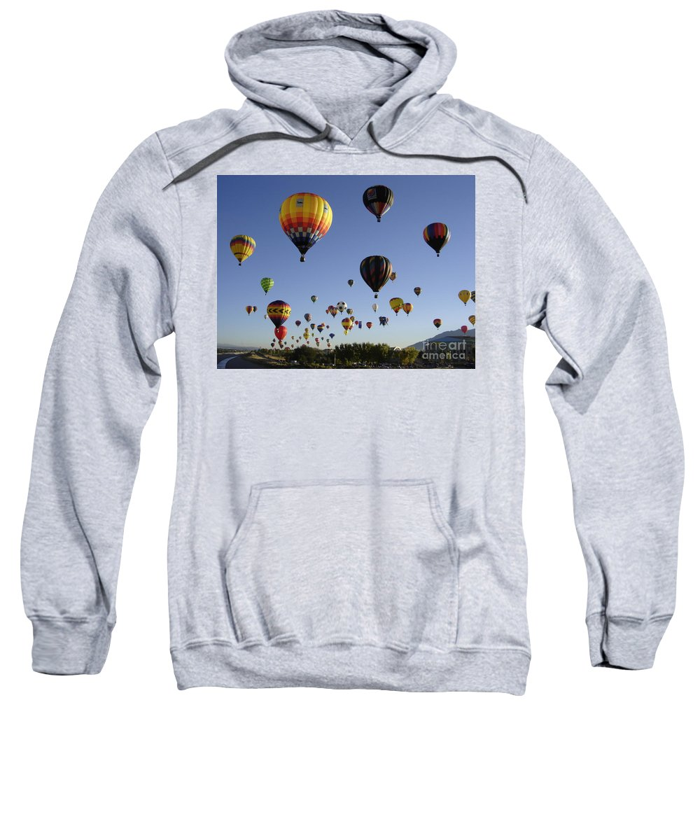 Flight Sweatshirt featuring the photograph Big Balloons by Mary Rogers