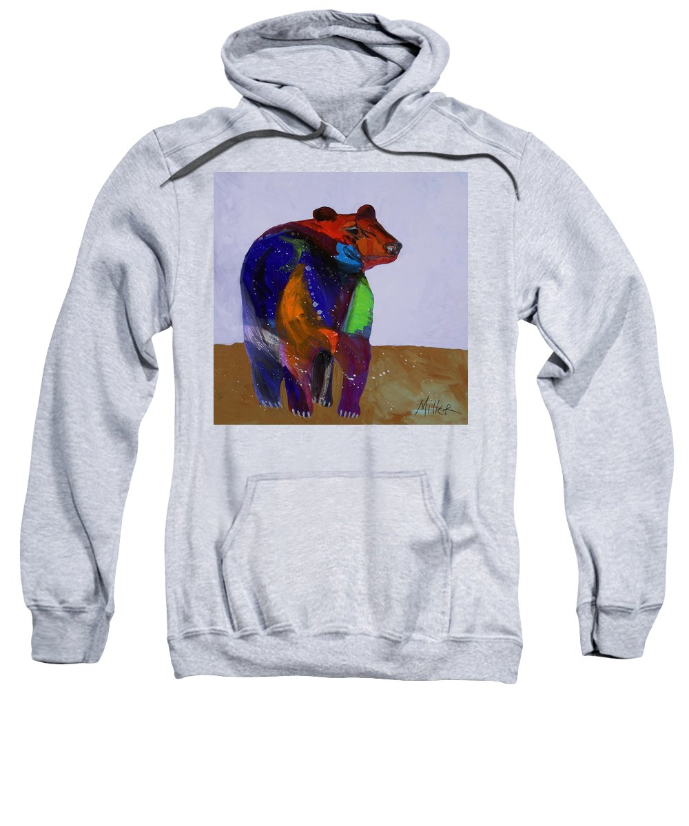 Black Bear Sweatshirt featuring the painting Big Bear by Tracy Miller