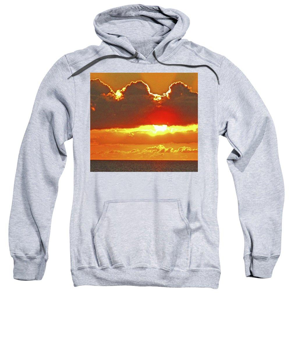 Sunset Sweatshirt featuring the photograph Big Bold Sunset by Ian MacDonald