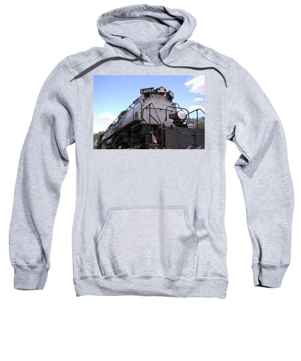Steam Sweatshirt featuring the photograph Big Boy Display by Wendy Fox