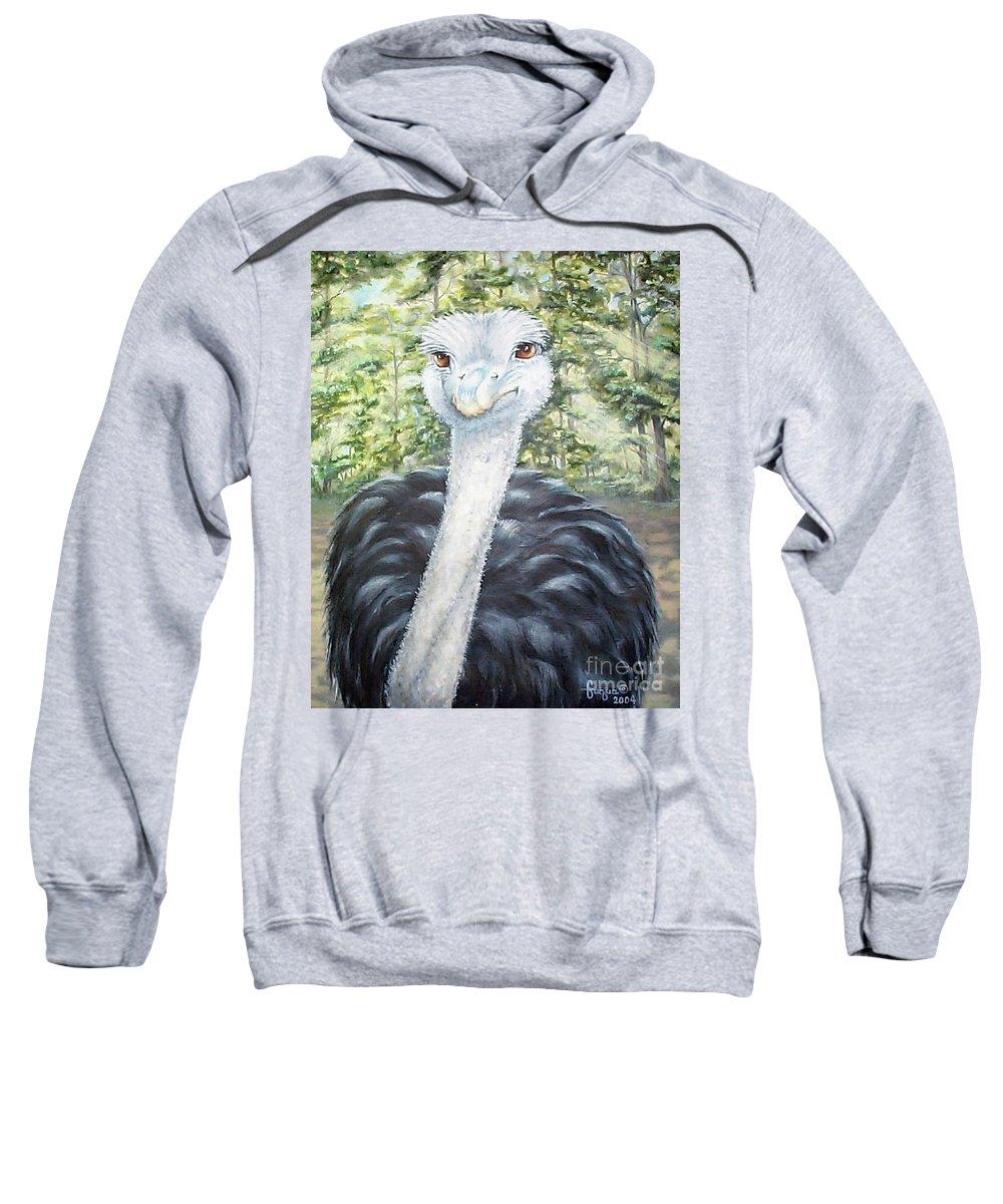 Fuqua Gallery-bev-artwork Sweatshirt featuring the painting Big Brown Eyes by Beverly Fuqua