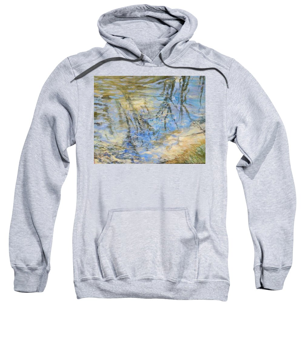 Water Sweatshirt featuring the painting Big Creek by Denise Ivey Telep