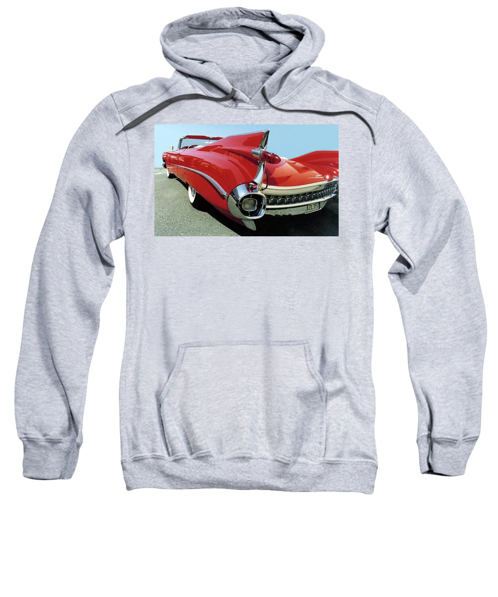 Automobile Sweatshirt featuring the photograph Big Finish by Alan Olmstead