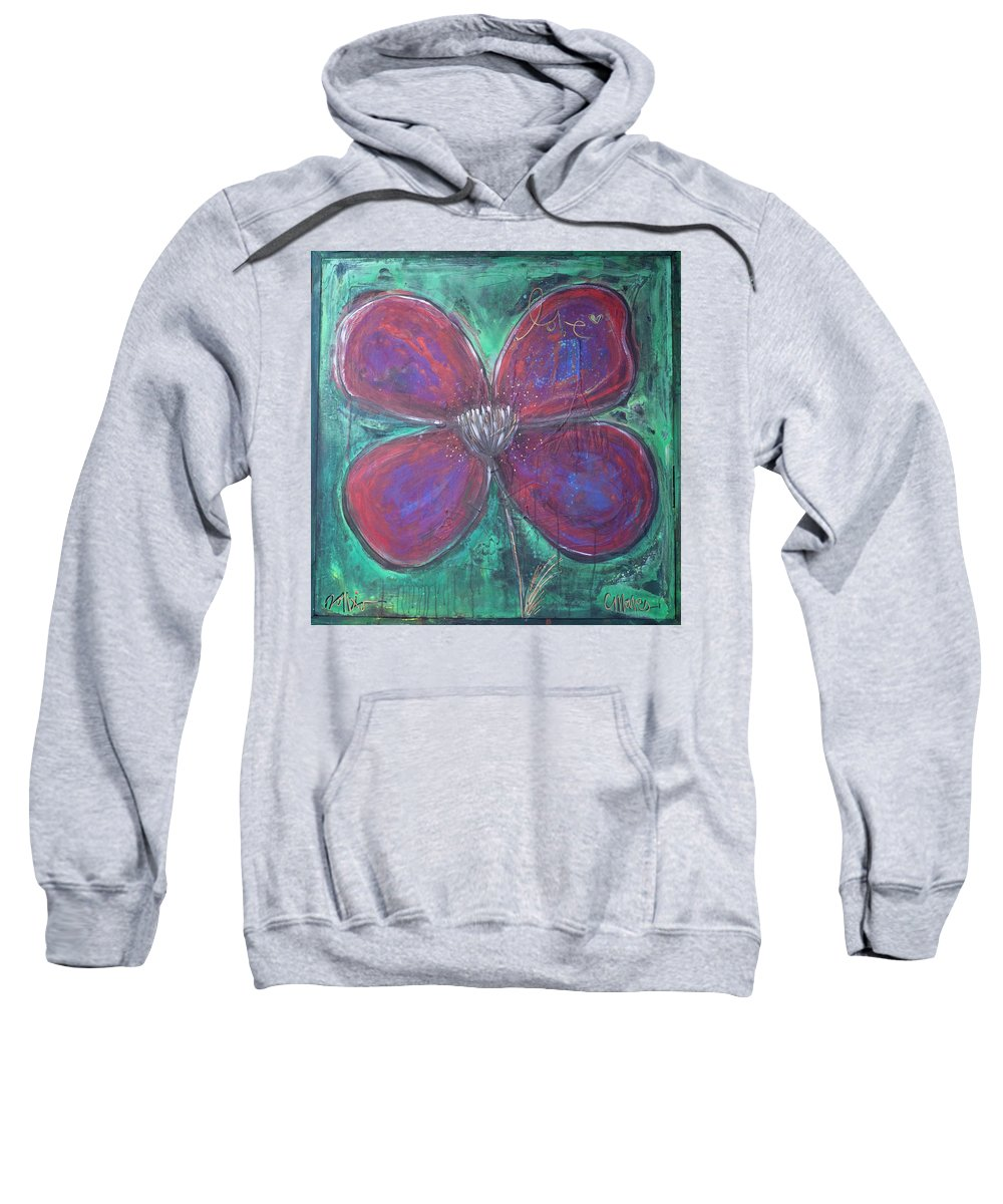 Poppy Sweatshirt featuring the painting Big Love Poppy by Laurie Maves ART