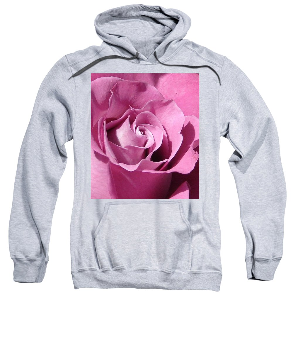 Rose Pink Sweatshirt featuring the photograph Big Pink by Luciana Seymour