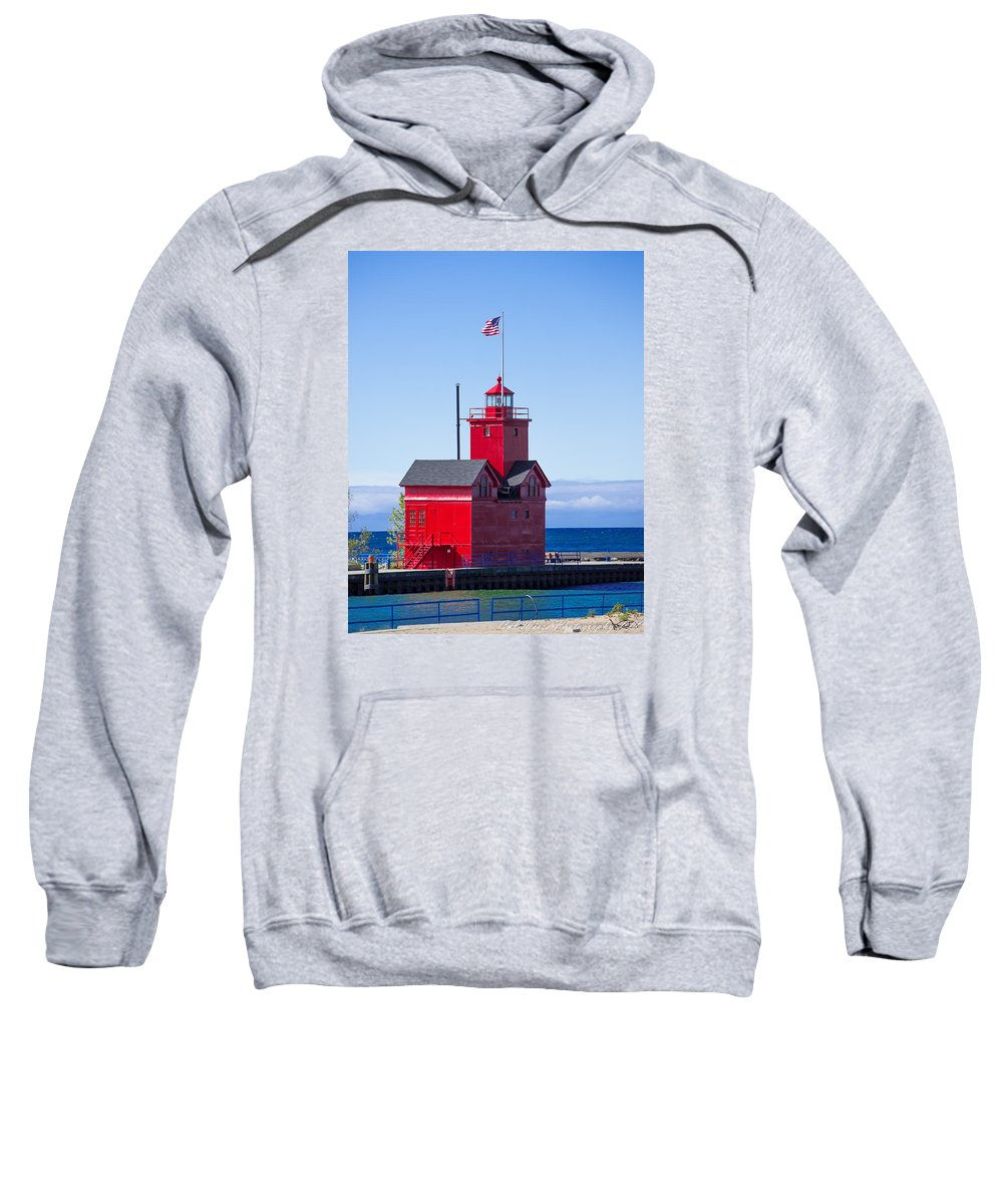 Sweatshirt featuring the photograph Big Red by Cathy Misze