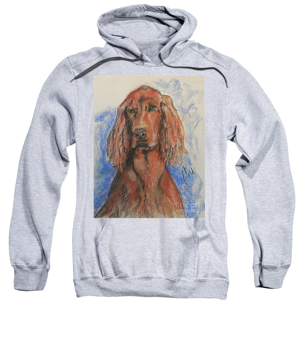 Irish Setter Sweatshirt featuring the pastel Big Red by Cori Solomon