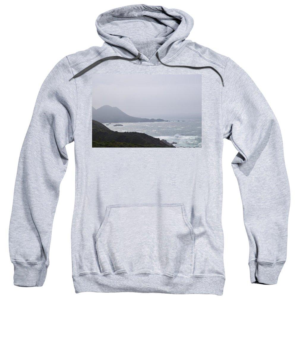 Big Sur Sweatshirt featuring the photograph Big Sur Sun And Fog by Jeffrey Hubbard