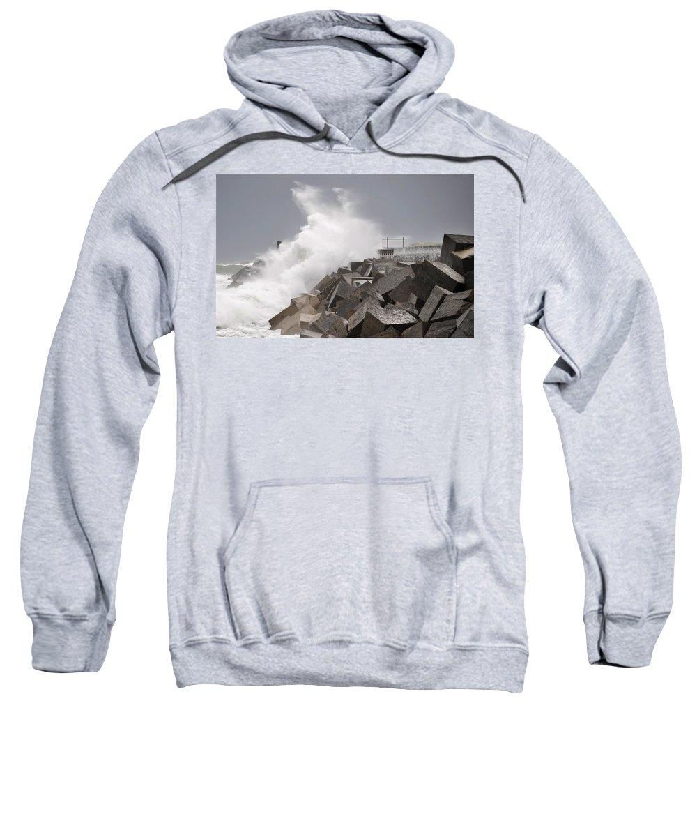 Spain Sweatshirt featuring the photograph Big Waves IIi by Rafa Rivas
