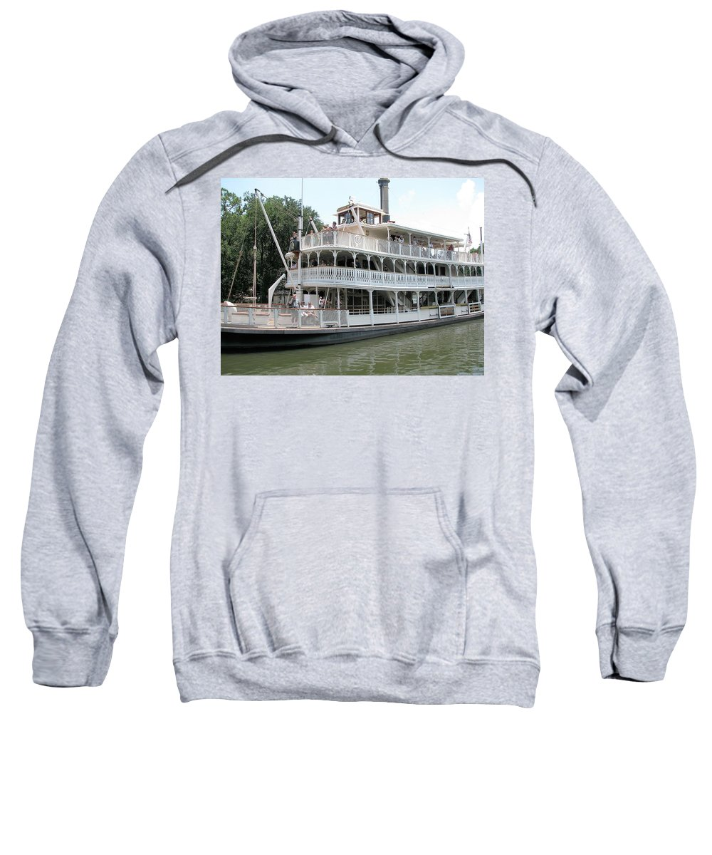 Big Wheel Boat Sweatshirt featuring the photograph Big Wheel Boat by Kiran Kapadia