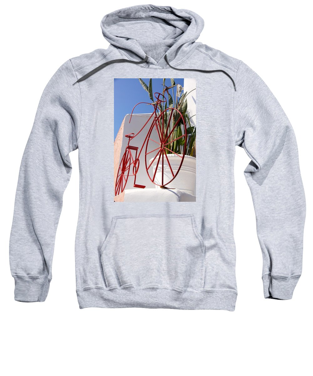 Bike Sweatshirt featuring the photograph Bike Art by Ron Koivisto